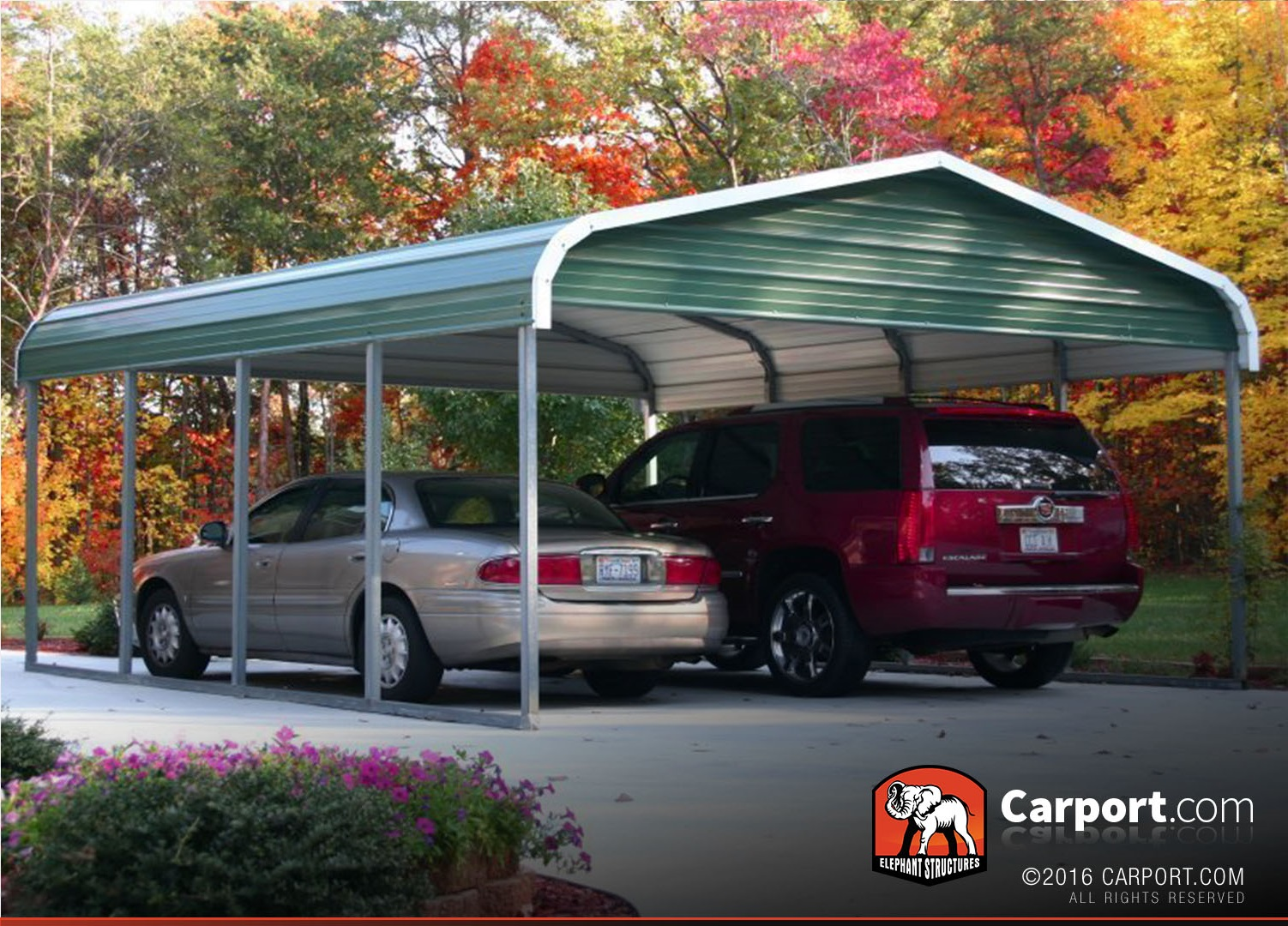 Karpot Single Car Carport 12' X 26' With Regular Roof | Single Car Carports