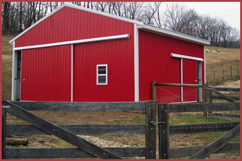 Steel Buildingsbarns_red
