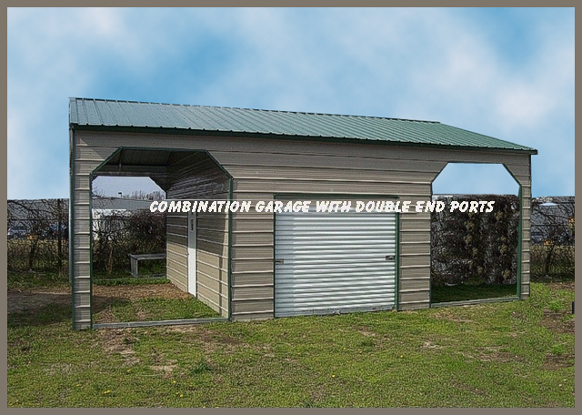 Steel buildings combo photos and for Carport shop combo
