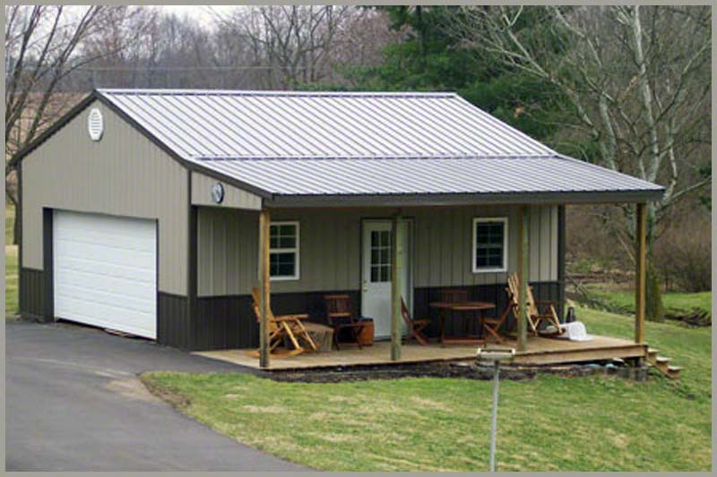 Steel Buildings garage_porch