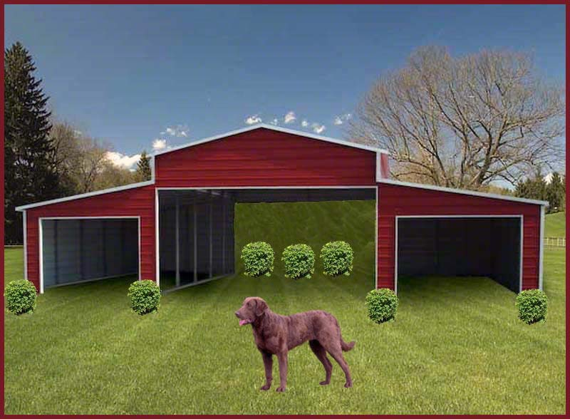 Steel Buildings red_barn