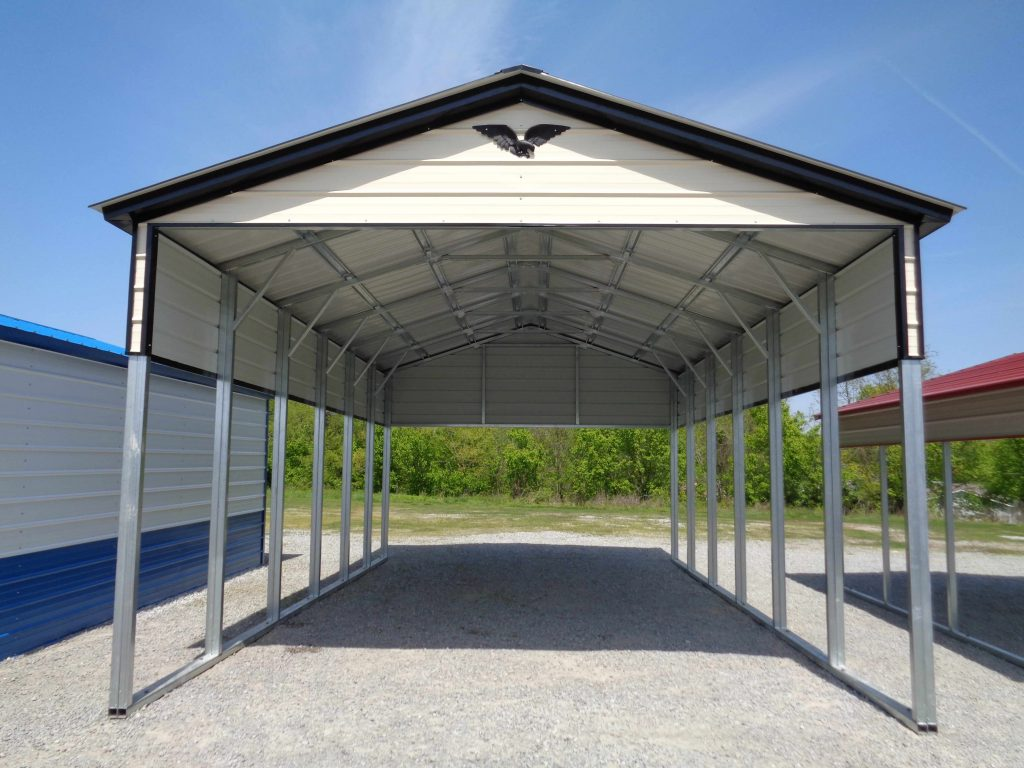 Dachkonstruktion Carport Vertical Roof Rv Carport - 18' X 31' X 13' - Metal Rv