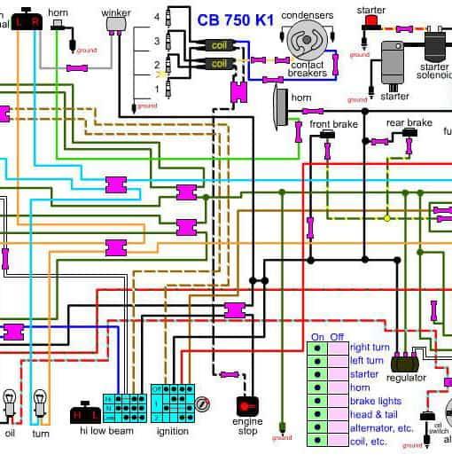 cb750k1 wiring diagram1 510x521?quality=80&strip=all wiring diagram honda cb1000 honda cbr1100xx wiring diagram auto