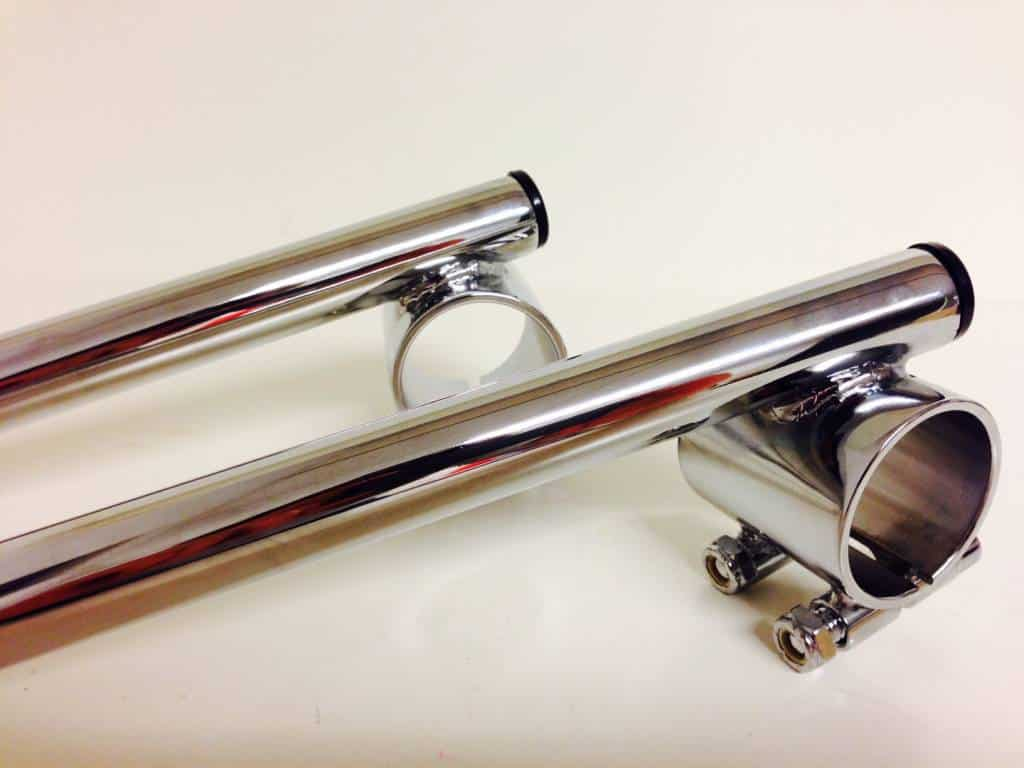 Clip Ons Clip On Bars For 35mm Forks 7 8 Tubing Chrome