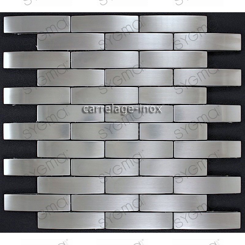 Mosaic Stainless Steel Tile Stainless Steel Faience - Faience Inox