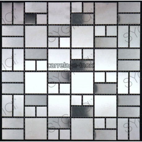 Mosaic Stainless Steel Tile Faience Credence Loft - Faience Inox