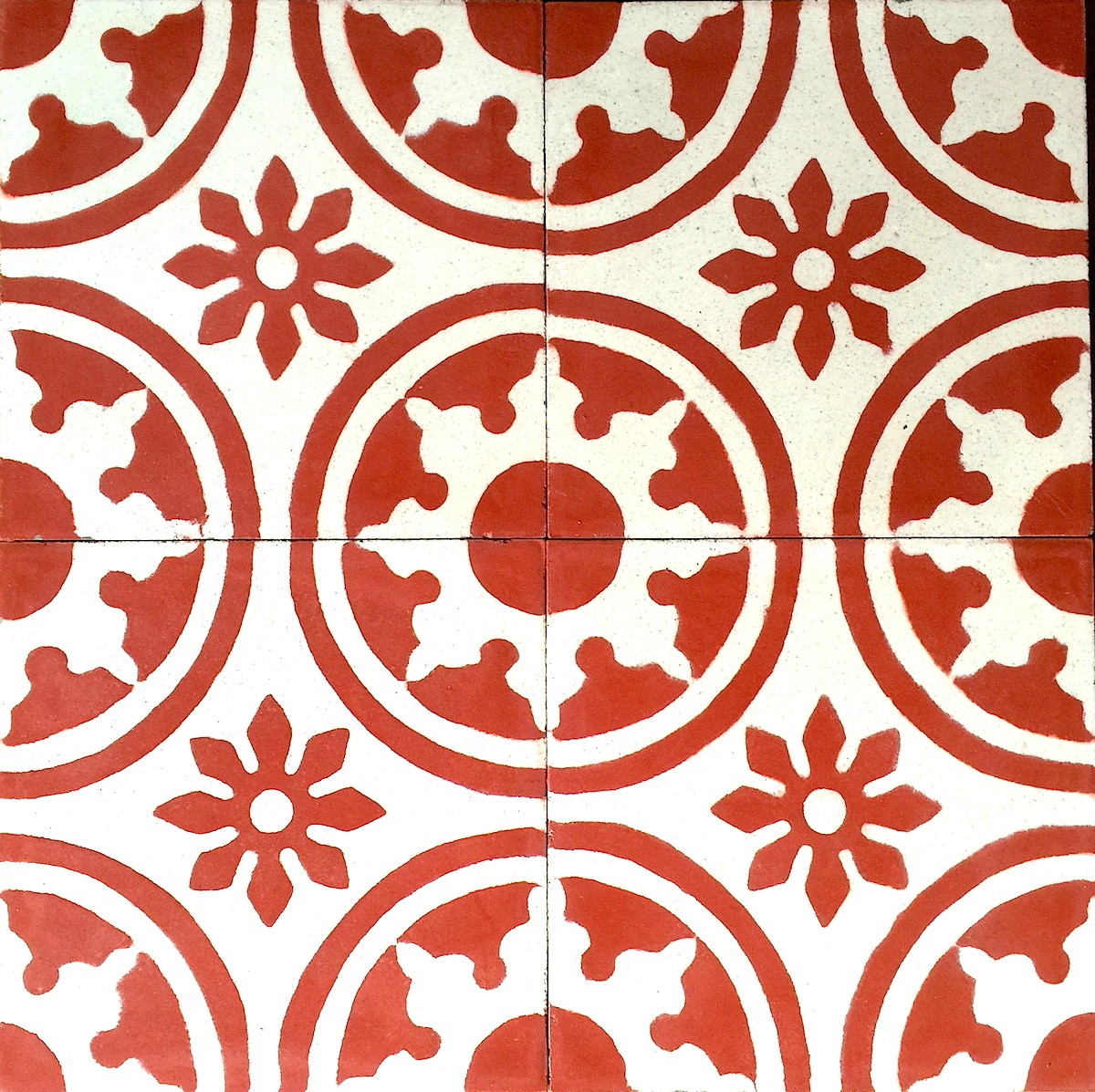 Carreaux De Ciment Texture 1m2 Carreaux Ciment Modele Palma Rouge Carrelage Mosaique
