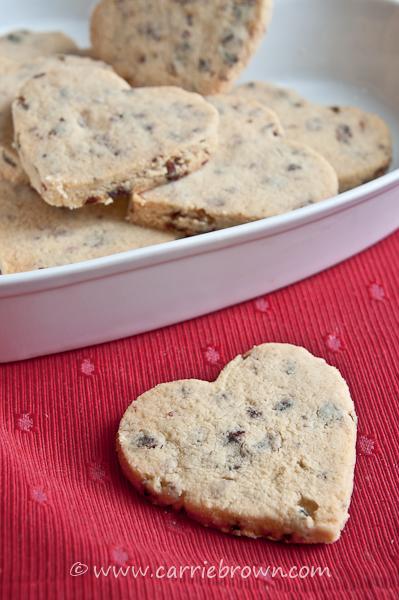 Lemon cranberry shortbread cookie recipe