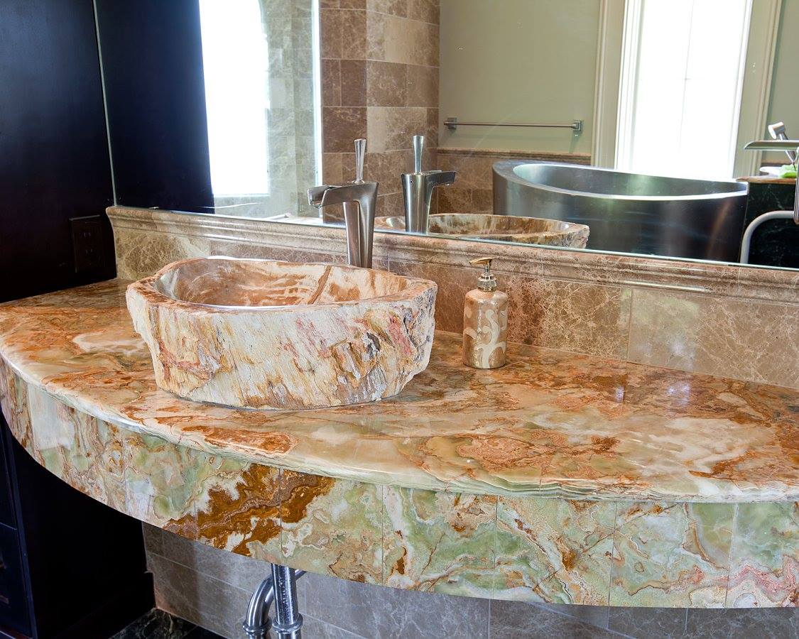 Granite Countertops New Orleans 5 Bathroom Countertop Materials By Carr Stone And Tile