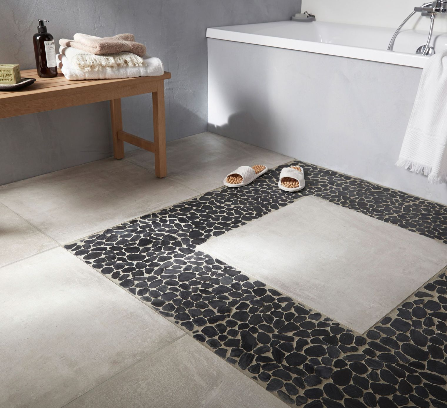 Carrelage Galet Carrelage Galet Salle De Bain Perfect Carrelage Galets