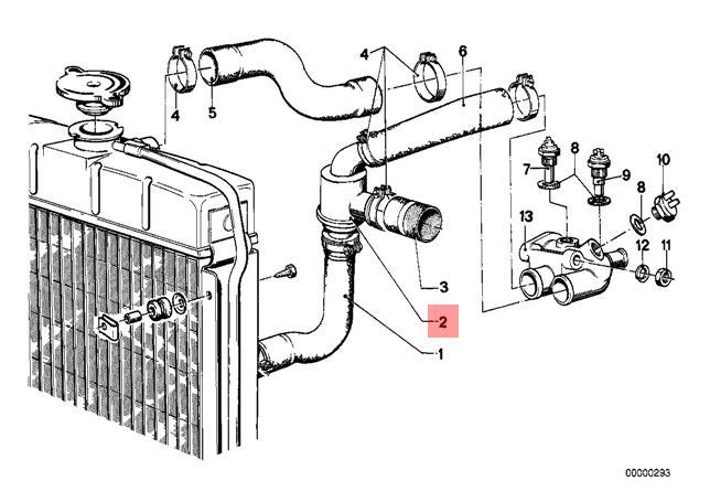 Genuine BMW 114 E12 E21 E28 E30 NK Engine Coolant Thermostat OEM