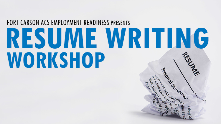 US Army MWR  View Event  Resume Writing Workshop