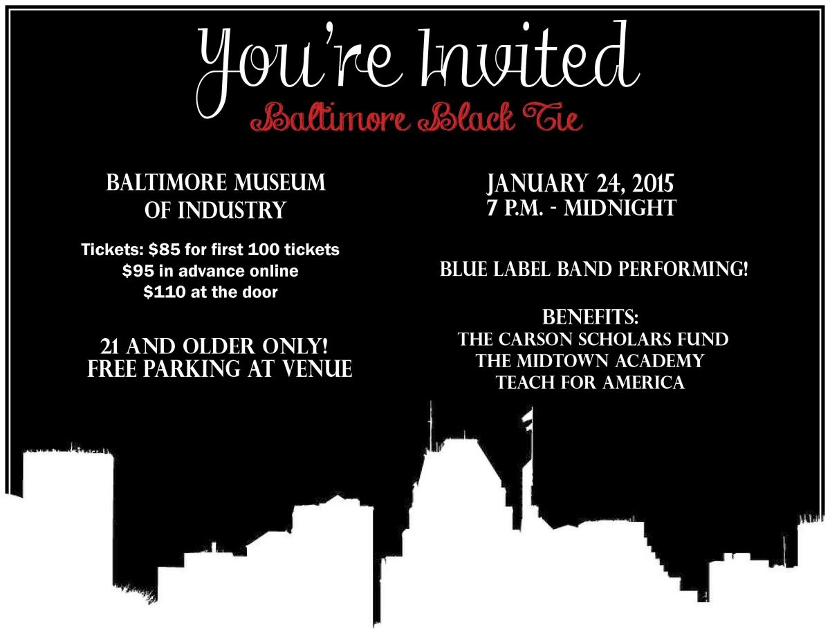 Baltimore Black Tie Benefit for CSF Alumni!