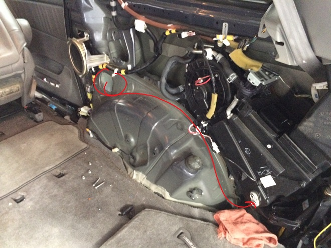Toyota Sienna A/C not working/blowing warm air - rear line failure