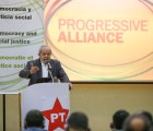 Sao Paulo 25/04/2016 Ex-Presidente do Lula durante evento Progressive Alliance. Foto Paulo Pinto/Agencia PT