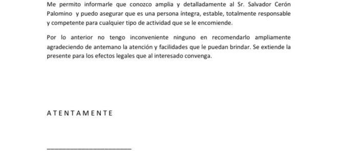 carta de recomendacion personal para un amigo - Ecosia