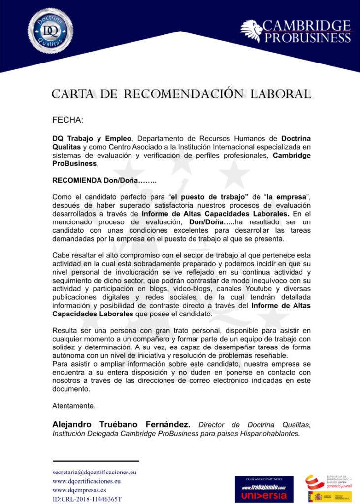 ▷ Carta de recomendación laboral ¡Partes, estructura y ejemplos 2018!