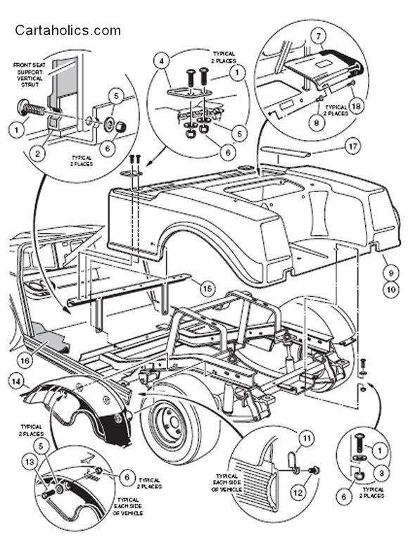 Golf Cart Body Diagram Wiring Diagram