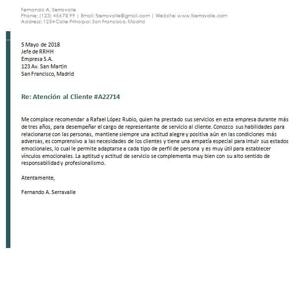 Modelos y Ejemplos de Cartas de Recomendación Personal y Laboral