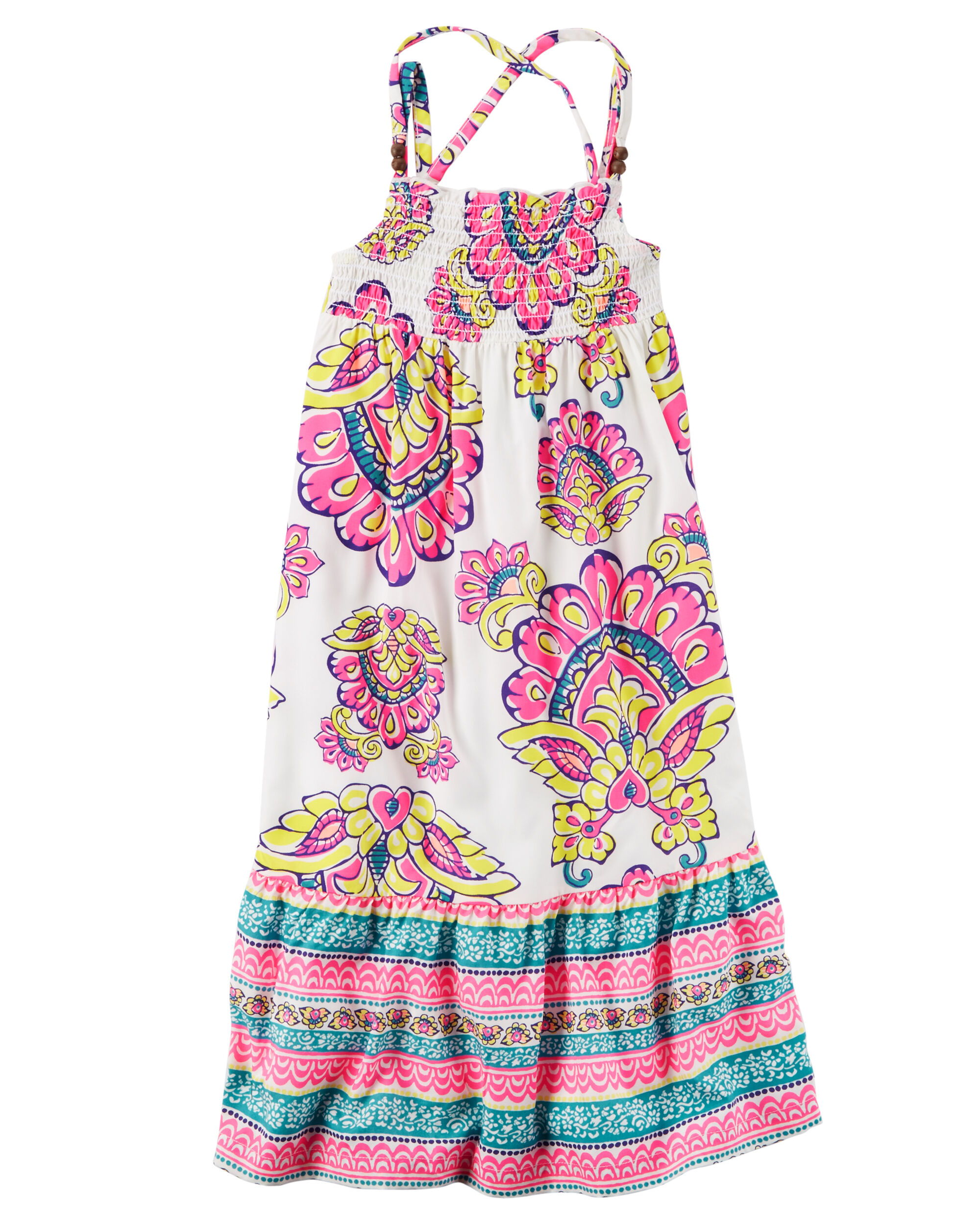 Maxi Baby Name Smocked Paisley Maxi Dress