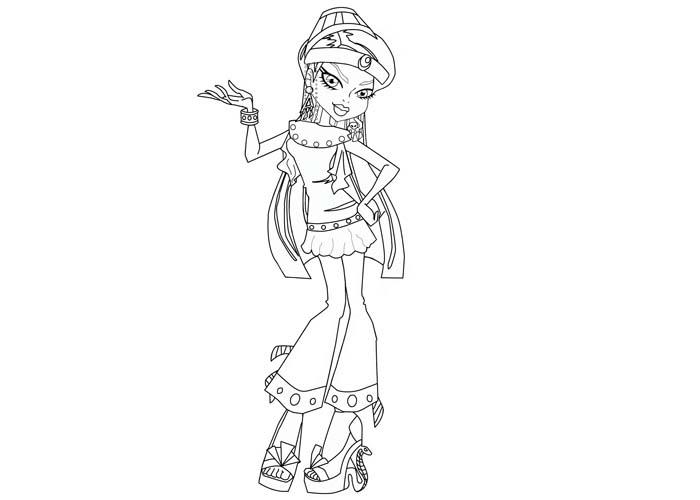 Monster High Cleo De Nile Coloring Pages - Democraciaejustica