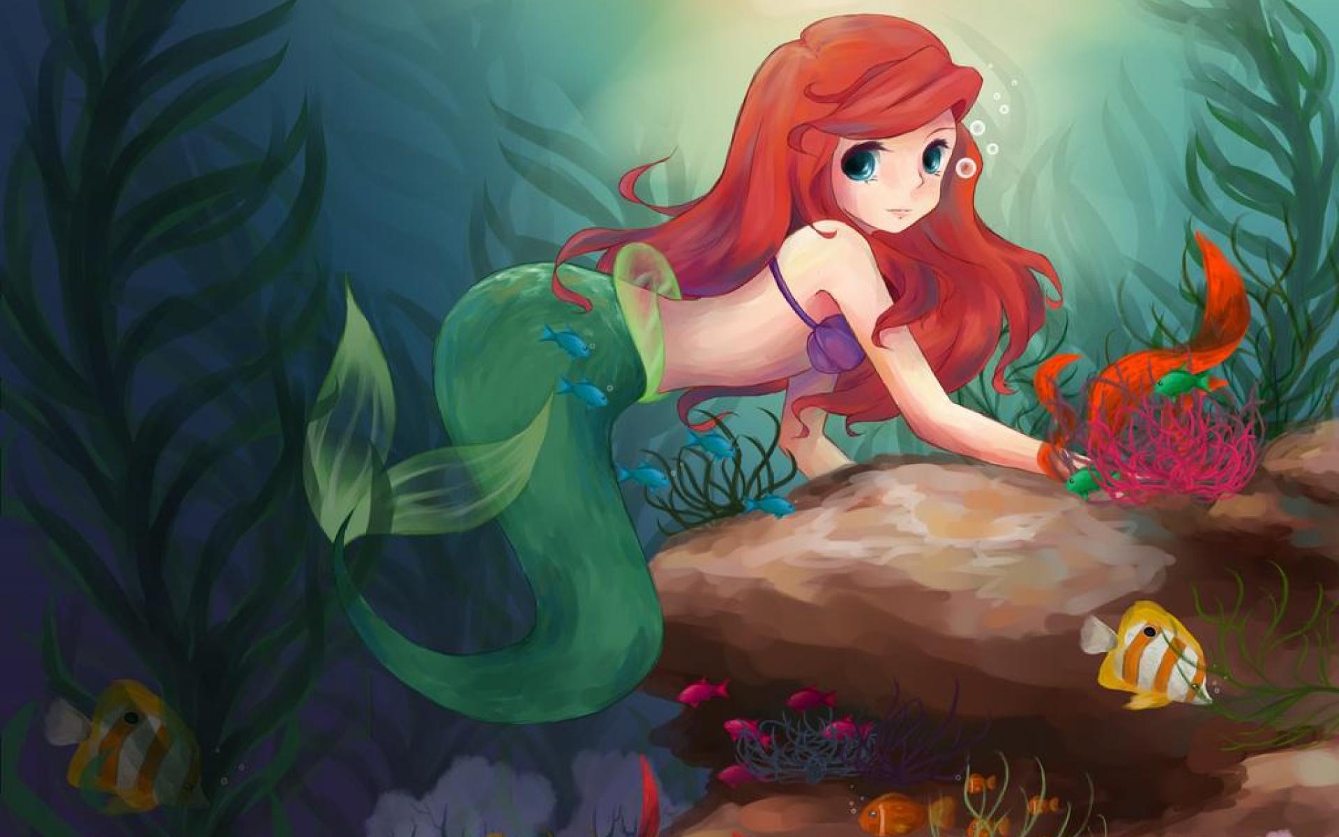 Cute Trendy Wallpapers 40 Cute Little Mermaid Wallpaper For Desktop