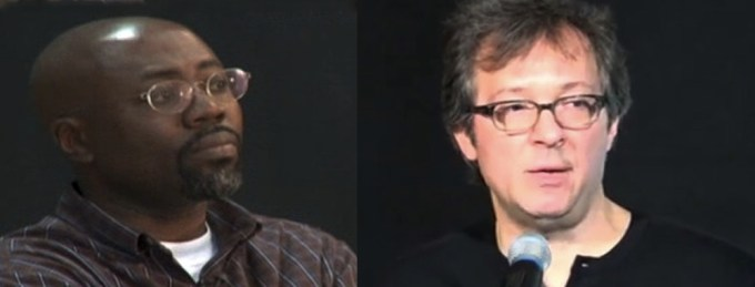 Cartoonists Gado and Ted Rall