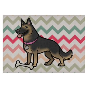 German Shepherd Glass Cutting Board