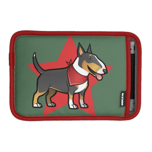 Tricolor bull terrier ipad mini sleeve