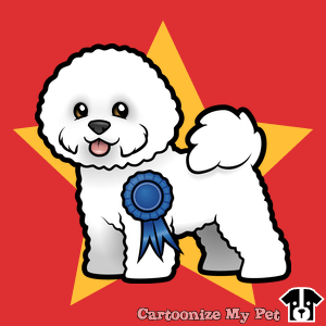 Best in show Bichon Frise cartoon