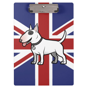 Union jack english bull terrier A4 clipboard