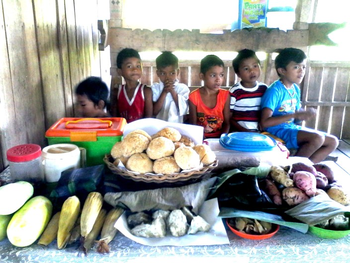 Learners await the healthy feast prepared for them in celebration of Nutrition Month in July