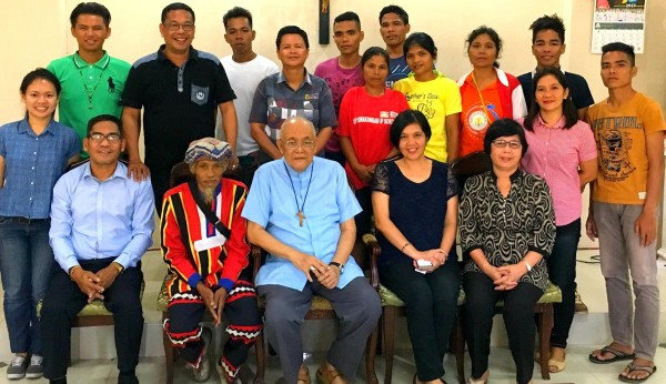 Representatives from the indigenous Higaonon community of Sinakungan, Esperanza, Agusan del Sur come together with those from Cartwheel, the Department of Education District Office, and the Indigenous Peoples' Apostolate of Butuan