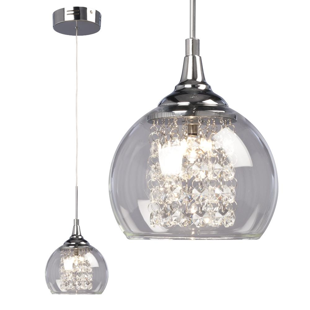 Modern Chandeliers Australia 1 Light Mini Pendant Polished Chrome With Clear Crystal Beads
