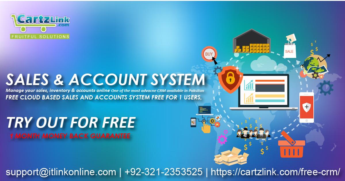 Free CLOUD BASED SALES  ACCOUNT SYSTEM \u2013 Complete CRM CARTZ Link