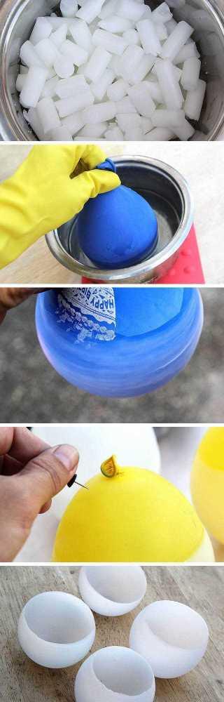 postup Návod na originální svícen z vosku