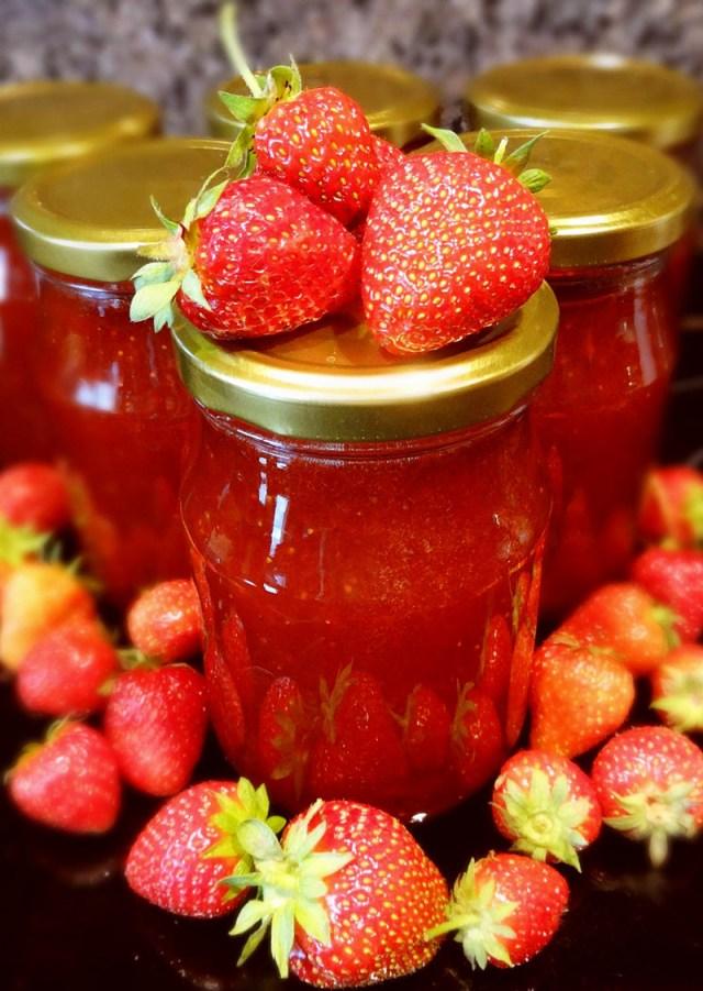 jahodovo rebarborová marmeláda recept