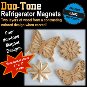 duo-tone regfrigerator magnets
