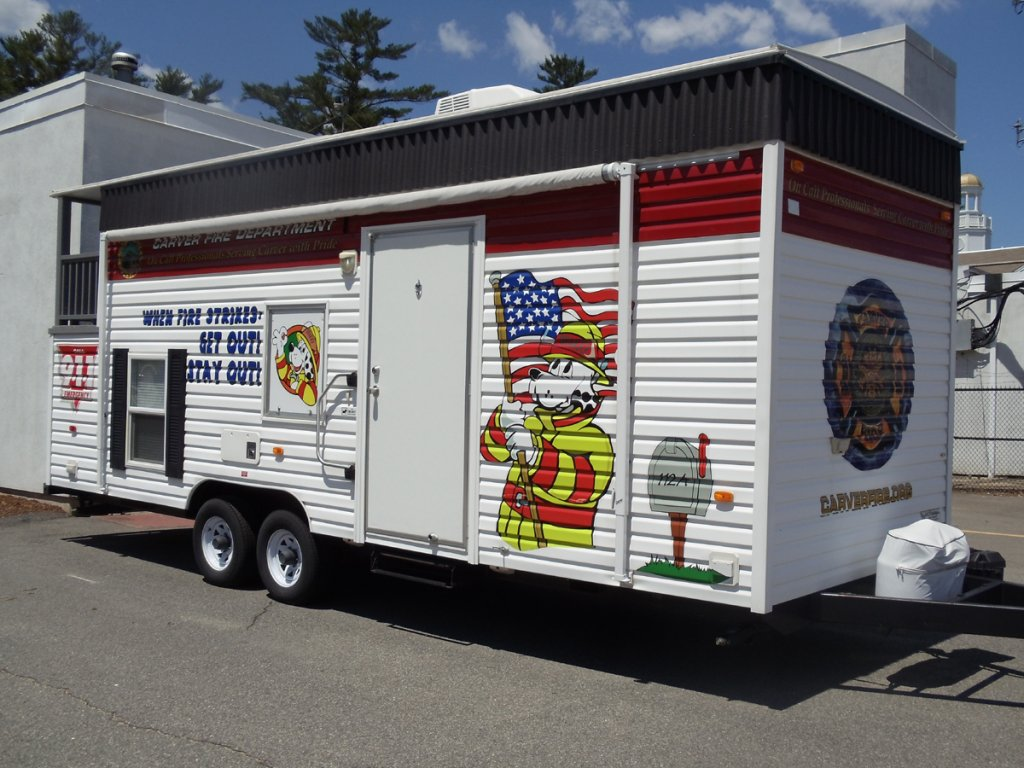 Safe house carver fire department for Fire safety house