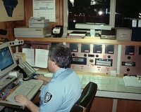 A picture of Firefighter Rick Leopardi dispatching in the early 90's.