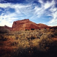 Winter afternoon in Arches National Park