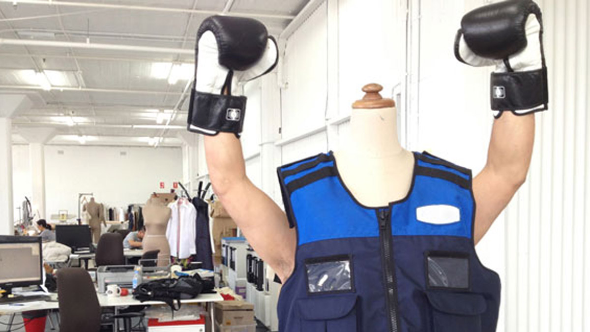 Boxing Gloves and bullet proof vests