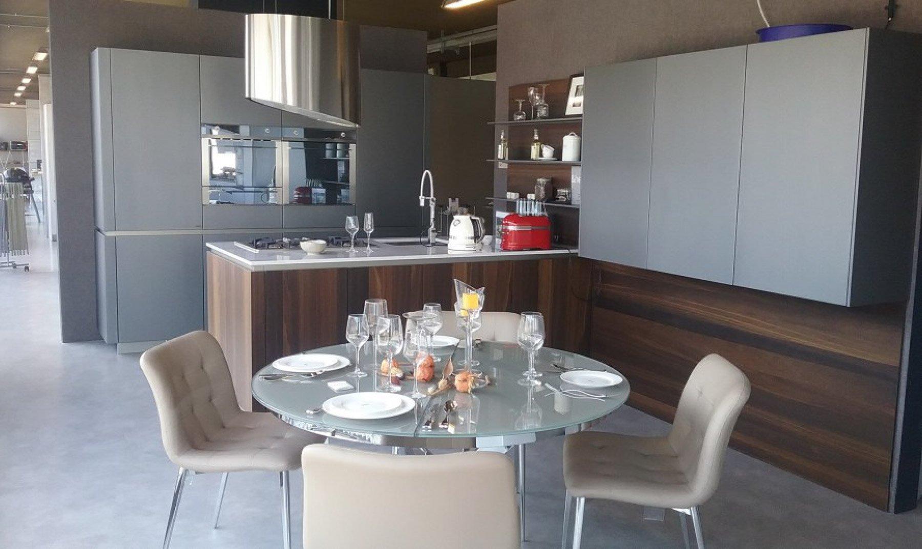Cucina Way Snaidero | Cucina Moderna Impiallacciata In Legno Con ...