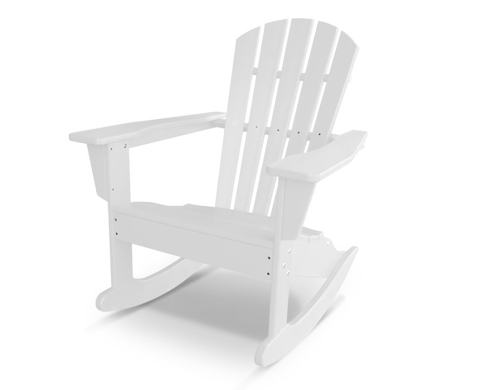 Outdoor Schaukelstuhl South Beach Ii Adirondack Rocker Hdpe Kunststoff Weiss