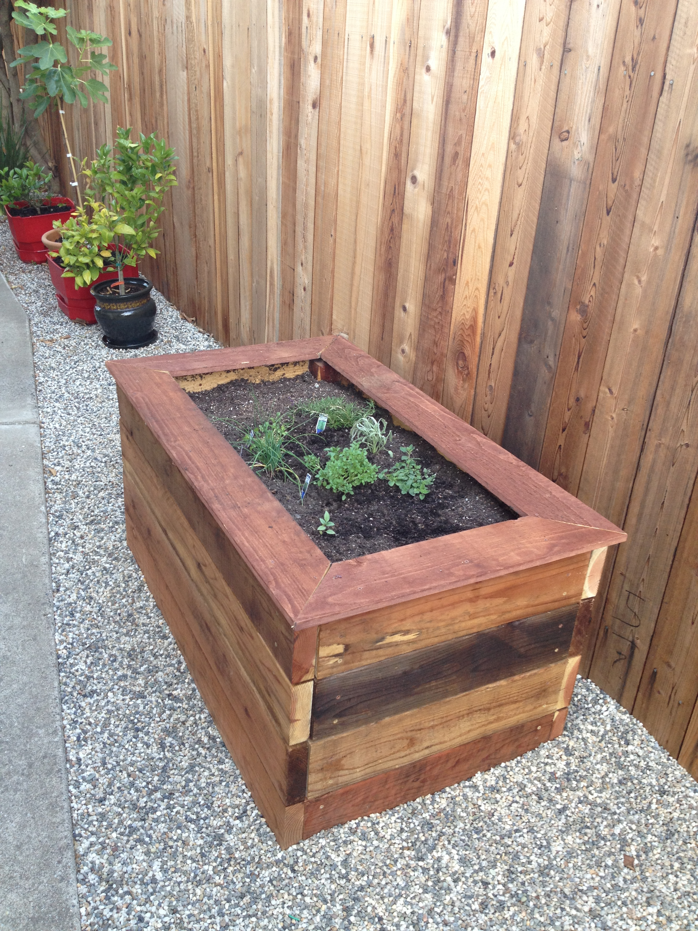 Box à Planter Woodworking Raised Planter Box And Bench Casa De Wade
