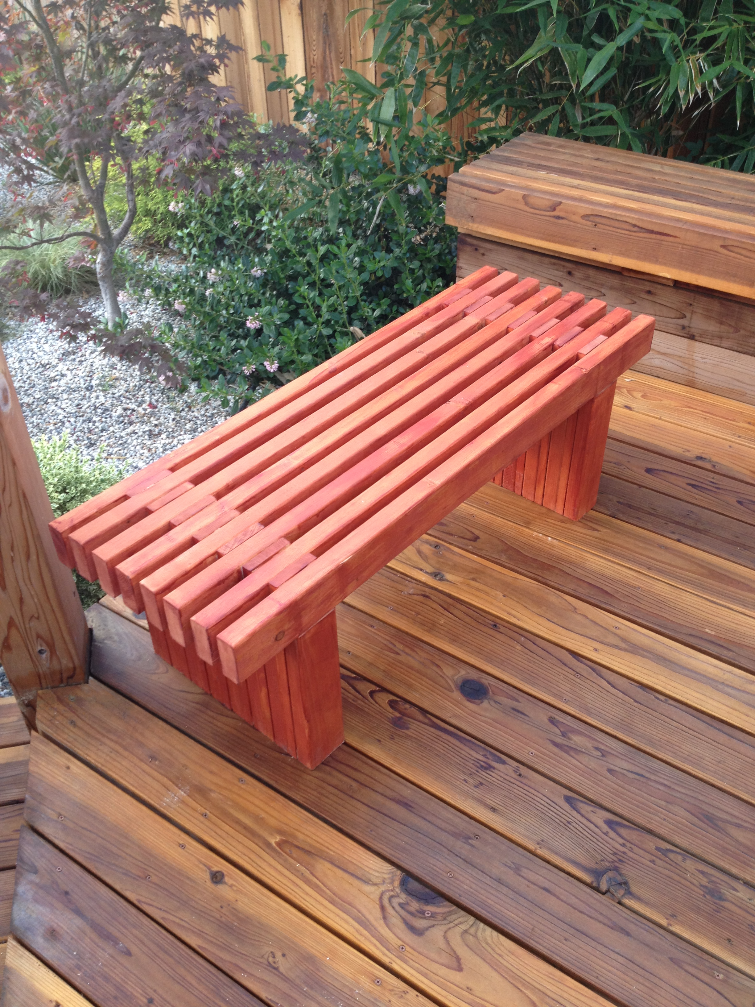 Plant Bench Indoor Woodworking Raised Planter Box And Bench Casa De Wade