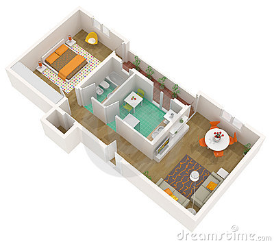 Studio Apartment Austin, Texas Regional Apartment Plans