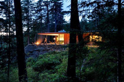 Cozy Fall Hd Wallpaper Casas Na Floresta 33 Projetos Simples Modernos E