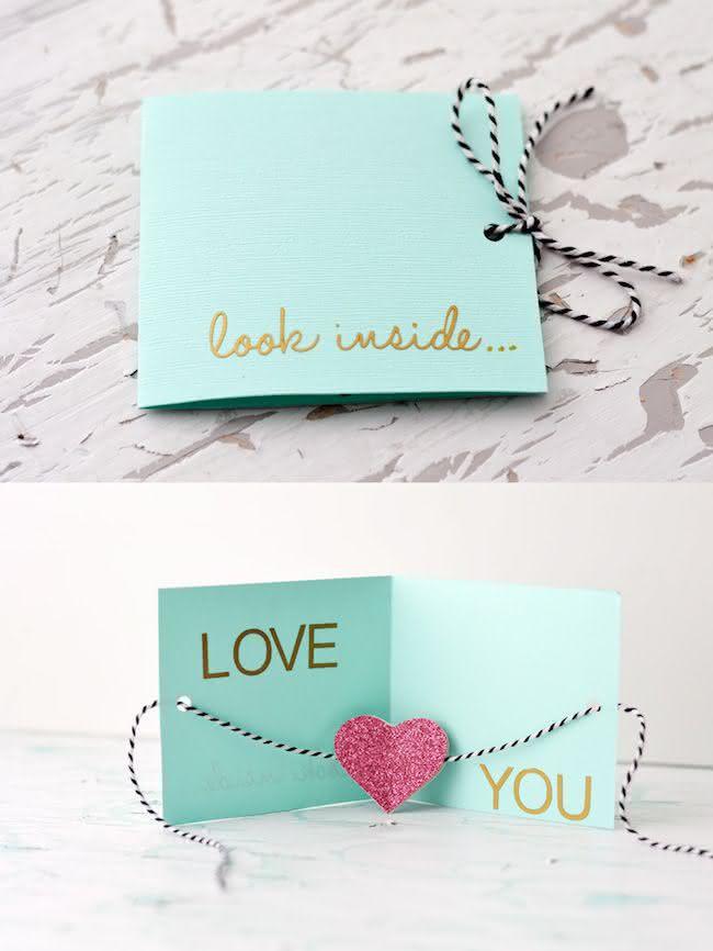 Cartão de Dia dos Namorados DIY passo a passo para fazer em casa