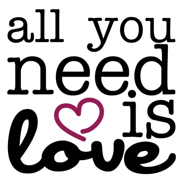 All you need is love - free printable